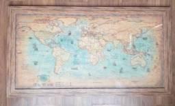 Quadro réplica de mapa antigo