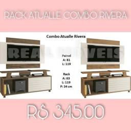 Rack com painel barato combo simples