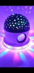 Abajur céu estrelado com Bluetooth