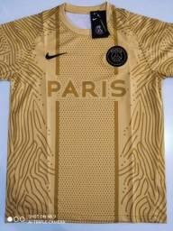 Camisa PSG Training Suit Dourada Nike - 20/21 - Tamanhos: P, M, G, GG