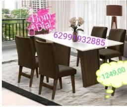 Mesa de jantar Vigo com 4 cadeiras promocao
