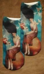 Kit 3 meias estampadas