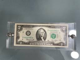 Título do anúncio: Nota de 2 dólares ano 1976 valor 2.,000$