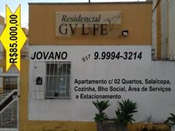 Título do anúncio: Apartamento c/ 02 Quartos (atrás da Faculdade Univale)