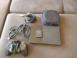 PS2 com vários jogos + memory card original