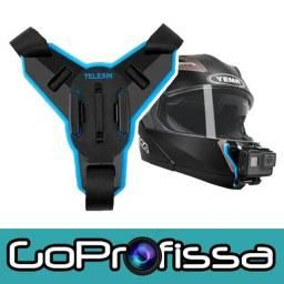 Título do anúncio: Suporte Frontal para Capacete GoPro Original - Acessórios para GoPro e câmeras