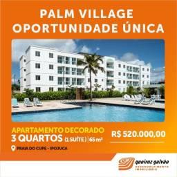 JL-Palm Village, Apt. Decorado, Queiroz Galvão, prox. de Porto de Galinhas