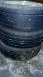 Rodas do prisma original aro 14 com pneu já