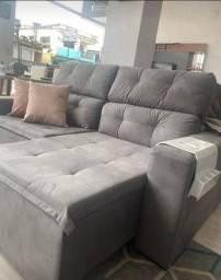 Sofá Retrátil e reclinável 2m