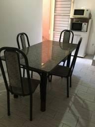 Título do anúncio: Mesa de granito com 4 cadeiras