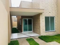 Casa nova, 3 quartos, 2 banheiros, garagem, sala, cozinha, quintal, próx a Estrada do Fio