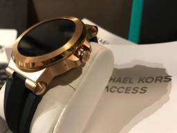bf50f19d5d4 Queima  Smart Watch Michael Kors - Dylan   Ouro Rose   Android Wear    Funciona