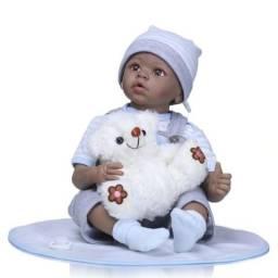 Compre Bebê Reborn Menino Realista 55cm e Ganhe Ursinho De Pelúcia