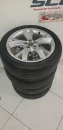 Jogo de rodas aro 17 com pneus Hancock