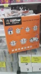 Vendo jogo de panelas Hoffner com 14 peças. Parcelamos!!!