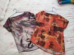 Lote de duas blusas M novas, só foram lavadas