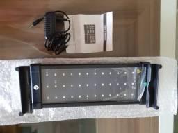 Luminaria led para aquario de 50 a 70cm.nova sem uso