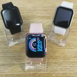 Smartwatch D20 Novo rose, troca pulseira