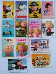 CARDS DO SNOOPY, ALVIN E OS ESQUILOS, O SHOW DA LUNA, AS AVENTURAS DE LADYBUG.