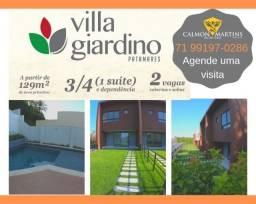 Oportunidade - Casas com 3/4 (1 suíte), em 129m² + 2 vagas - Villa Giardino