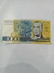 Título do anúncio: Dinheiro antigo Cem mil Cruzeiros