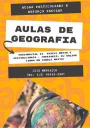 Aulas particulares e reforço escolar de Geografia e História