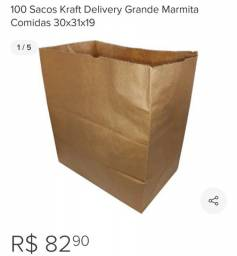 Vendo ou troco sacos de papel Kraft modelo dos(fundo quadrado e colado) valor 50,00 reais