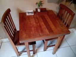 3 jogos de mesa de madeira para restaurante, lanchonete ou lazer