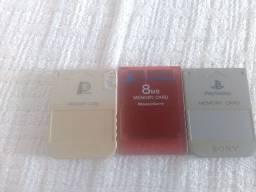 Os 3 por 100 reais Memory card Playstation 1 e 2