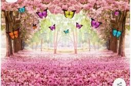 Painel floresta encantada