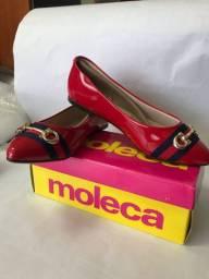 Sapatilha Moleca - Verniz Fresh Neo - Vermelha