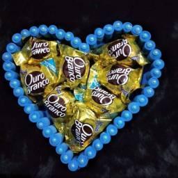Coração com bombons