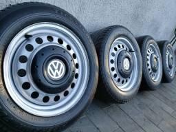 Aceito Trocas - Jogo de rodas aro 14 - VW Volkswagen Amarok 4x100 - com pneus 185/60 R14