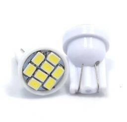 Título do anúncio: Lâmpadas Pingo T10 8 Led Branca Meia Luz cada