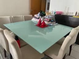 Título do anúncio: Tampa de mesa vidro temperado + pé de mesa