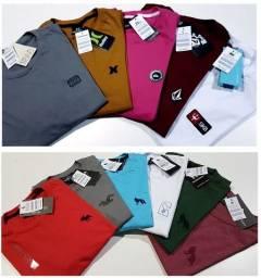 Sacoleiras -  20 Camisetas DeLuxo Malha Premium Marcas Variadas Frete Grátis