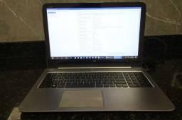 Notebook / HP / em Plástico / Metal Cinza (Ler Observações)