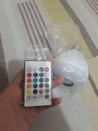 Lâmpada Led RGB com som via Bluetooth