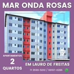 Super Oportunidade - Residencial Mar Onda Rosas, 2/4 com e sem suíte