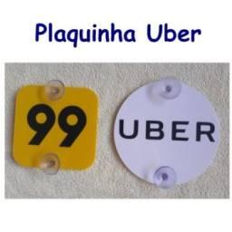 Plaquinha Uber 99 Pop Curitiba e SJP
