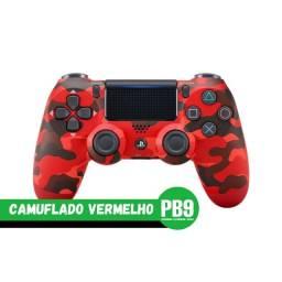 Título do anúncio: Controle Sony Dualshock PS4 Vermelho Camuflado