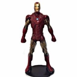 Homem de ferro action figure boneco mais quadro brinde