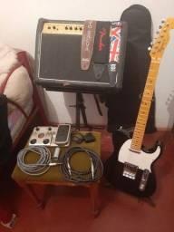 Título do anúncio: Guitarra+Amplificador+Pedaleira+Acessórios