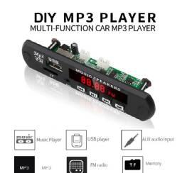 Placa Decodificador Bluetooth Mp3,cartão usd, radio FM