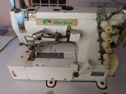 Máquinas de costura industrial Galoneira, reta eletrônica e Overloque