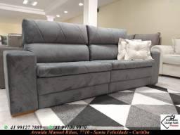 Sofá Retrátil reclinável Medida 2M cores nas fotos
