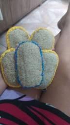 Esponja de banho de bucha vegetal (luffa cilíndrica)