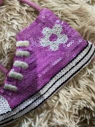 Bolsa infantil all-star lilás