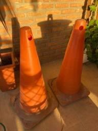 Cones de sinalização