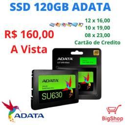 SSD Adata SU630, 120GB, SATA, Leitura 520MB/s, Gravação 450MB/s